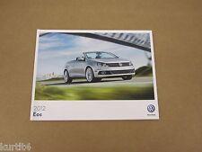 2012 Volkswagen VW Eos Komfort Lux Executive sales brochure dealer literature