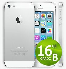 APPLE IPHONE 5 16 GB BLANC NIVEAU B + GARANTIE 12 MOIS - REMIS À NEUF 5G 16
