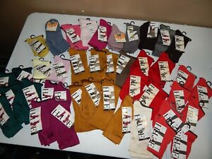 Lot of NEW  HUE Socks   One Size - 41 Pairs - Mixed Styles & Colors