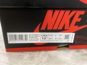 Size 10.5 - Jordan 1 Retro High OG Black
