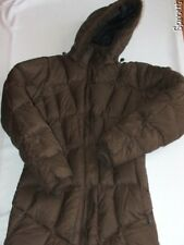 MOUNTAIN HARDWEAR down jacket coat brown women's small long EUC hood