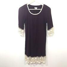 Umgee Dress Size Medium Burgundy Boho Lace Trim