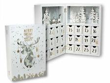 Holz Adventskalender Buch mit 24 Boxen - 30 cm - Weihnachtskalender zum befüllen