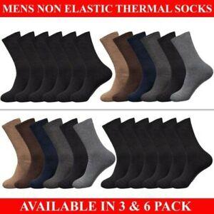 Mens Thermal Non Elastic Socks Diabetic Winter Warm Thick Sock Work Size UK 6-11
