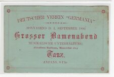 Chile 1894 Advertising stationery German Club