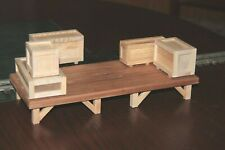 "S gauge handmade (USA)  freight platform 4 1/2 ""x 11"" for American Flyer etc"