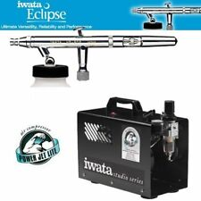 Iwata Eclipse HP-BCS Airbrushing System with Iwata Power Jet Lite Air Compressor