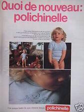 PUBLICITÉ SOUS-VÊTEMENT POLICHINELLE ENFANT FILLE MARQUE LEADER FRANCAISE