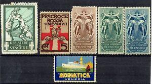 ERINNOFILIA - Lotto 6 erinnofili - ADRIATICA - ESPOSIZIONE MILANO - CROCE ROSSA