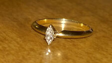 Diamond Ring  .16ct Eye Clean Solitaire 14k Yellow Gold Engagement Wedding Ring