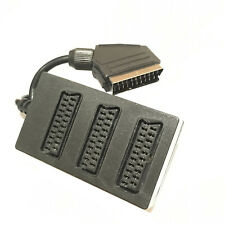 Scart 3 Way Splitter Switch Box Video Cable Adapter 3 Devices to 1 TV Connector