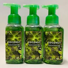 3 Bath & Body Works Coconut Eucalyptus Foaming Hand Soap With Aloe Water 8.75 oz
