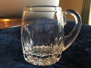 Stuart Crystal  Tankard / Beer Mug  stein small tankard 1/2 pint