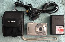SONY Cyber-Shot DSC-W50 Digital Camera 6.0MP - Silver~~Nr Mint~~Bundle~~