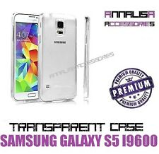 COVER TRASPARENTE PER SAMSUNG GALAXY S5 i9600 G900 CUSTODIA GEL TPU SLIM CASE