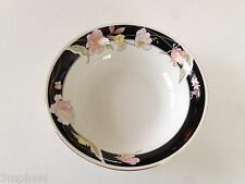 """Lynns Fine China Pearl ALICE 8860 Lily Black Ring Floral - 7-1/4"""" SOUP BOWL"""