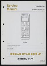 Marantz MODEL rc-95av Original Remote Control Unit service-Manual Top o126