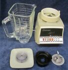 Vintage OSTERIZER GALAXIE #833-35K DUAL RANGE 10 Speed Blender GLASS PITCHER XUC