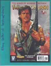 Freddy vs Jason Nightmare Warriors #1 Ash variant 2009 Wildstorm Dynamite Vf/Nm