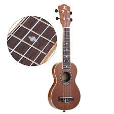 """21"""" Soprano Ukulele Ukelele Sapele 42mm Slim Design Musical Instrument 0Hw7"""