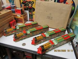 ARGENTINA SET OF 4 WIND UP TRAINS PATAGONIA IN BOX MATARAZZO PRE WAR SUPER RARE