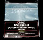 100 RESEALABLE LP OUTER SLEEVES High Quality Clear 12