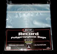 "500 RESEALABLE LP OUTER SLEEVES High Quality Clear 12"" Vinyl Record Album Covers"