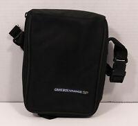 Official Nintendo Game Boy Advance SP Black Travel Carrying Zip Case w/Strap EUC