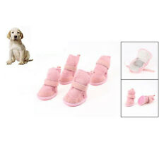 Pink Nonslip Sole Booties Pug Dog Durable Chihuahua Shoes 2 Pair XXS AD