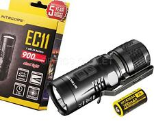 Nitecore EC11 900 Lumen Red & White LED Flashlight w/ Rechargeable Battery