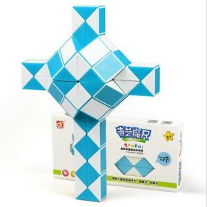 QIYI 72 Sections magic snake variety magic ruler cube Puzzle cube for Children
