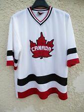 Maillot hockey CANADA shirt jersey TEEPEE blanc M