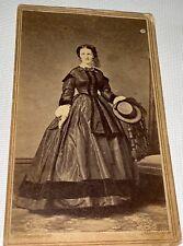 Antique American Civil War Victorian Fashion Beauty Brooklyn Ny Cdv Photo C.1862