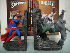 DC COMICS SUPERMAN vs DOOMSDAY BOOKENDS STATUE 1996 MIB!! RARE By PAQUET bust