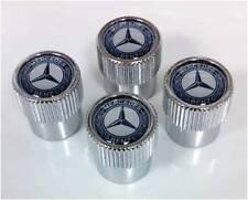 Genuine OEM Mercedes Benz Valve Stem Caps with MB Star & Laurel - (Set of 4)