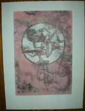 Paul Klee 1947 Limited Edition Pochoir Lithograph THE ONE IN LOVE Der Verliebte