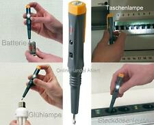 LED Stromprüfer Taschenlampe Stromtester Multitester Spannungsprüfer Multitester