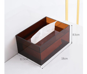 Modern Minimalist Acrylic Tissue Box Clear Transparent Fancy Holder Napkin Case
