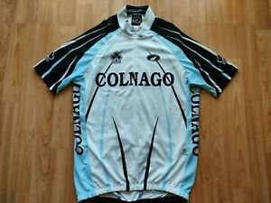 Parentini Colnago Short Sleeve Cycling Jersey White,Light Blue,Black  Size: XL