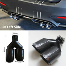 1x Real Carbon Fiber Auto Car Exhaust Pipe Tail Muffler Tip Dual Pipe -Left Side