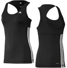 Adidas Clima 3S ESS Tank Top Damen Sport Fitness Shirt Laufshirt schwarz/weiss