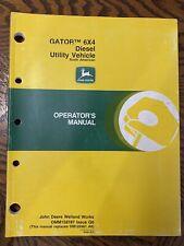 John Deere Gator 6X4 Diesel Utility Vehicle Operator Manual Omm128787 G6 P-5