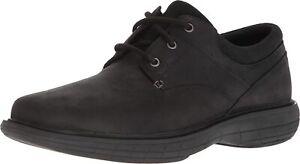 Men's Merrell World Vue Lace Up Oxford Shoe Black Nuback Leather J94019