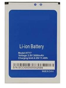 Batterie pour Homtom Ht17 Nouveau Capacité 3000mAh