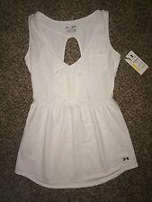 Womans Under Armour White Size Medium Dress Swim Beach Sport Casual Brand New