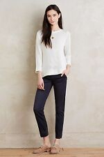 ANTHROPOLOGIE STET MID-RISE CARBON CROPPED CHINOS By Pilcro Size 25P NwT