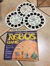 vintage REBUS GAME VIEW-MASTER REELS Set Of 3