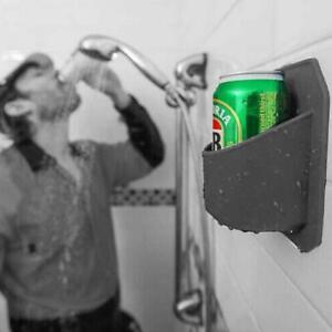 Shower Beer Holder Beverage Drink Rack Black Sticks to Glass Sudski AU HOT 2K0