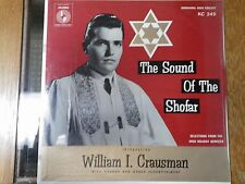 Lp The Sound of the Shofar William I Crausman Dr. Andrew Klein Temple Keser New!