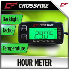 Hour Meter Tacho Temperature Gauge (Backlight Replaceable Battery) 2 Stroke 1-3